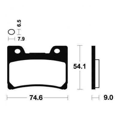 Plaquettes de frein Tecnium MF165 métal fritté