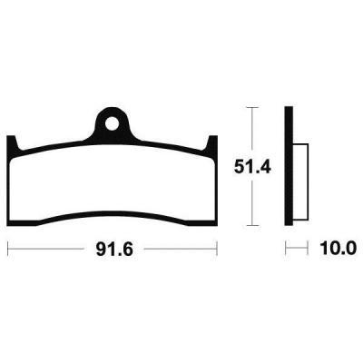 Plaquettes de frein Tecnium MF229 métal fritté