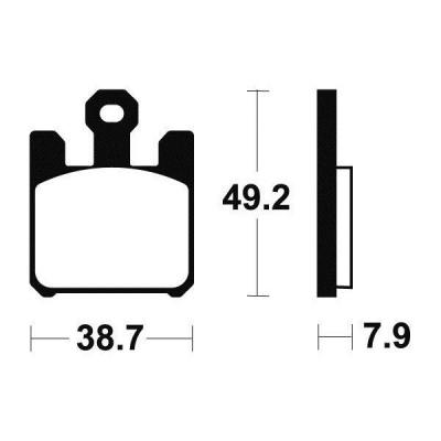 Plaquettes de frein Tecnium MF288 métal fritté
