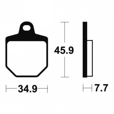 Plaquettes de frein Tecnium MF343 métal fritté