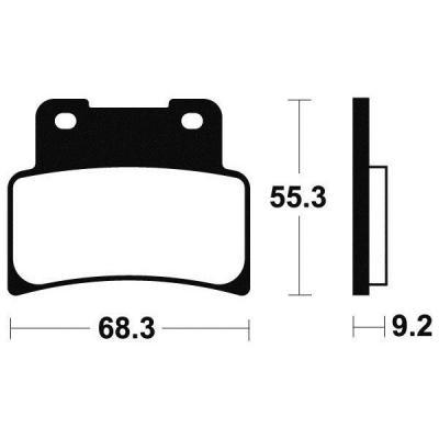 Plaquettes de frein Tecnium MF344 métal fritté