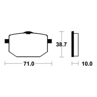 Plaquettes de frein Tecnium MF96 métal fritté