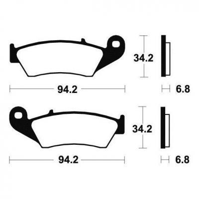 Plaquettes de frein Tecnium MO194 métal fritté