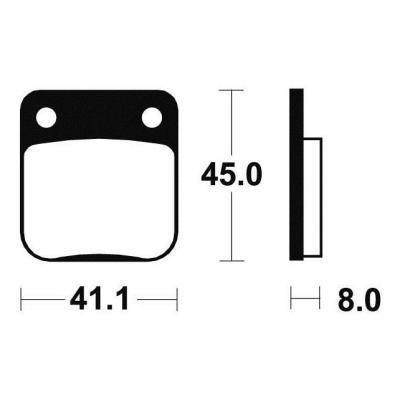 Plaquettes de frein Tecnium MO36 métal fritté