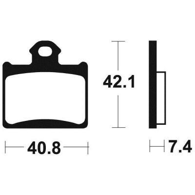 Plaquettes de frein Tecnium MO372 métal fritté
