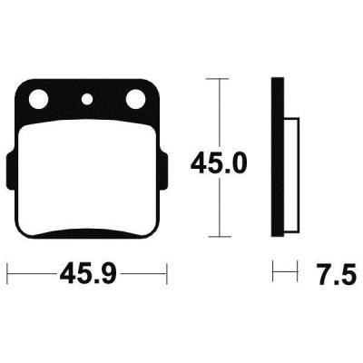Plaquettes de frein Tecnium MO92 métal fritté
