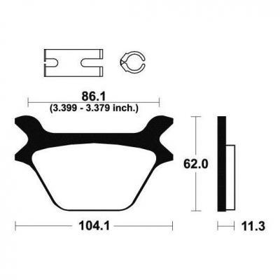 Plaquettes de frein Tecnium MR169 métal fritté