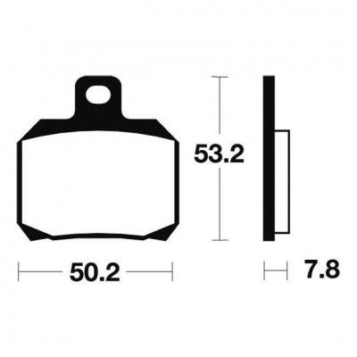 Plaquettes de frein Tecnium MR230 métal fritté