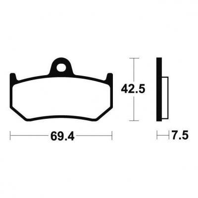 Plaquettes de frein Tecnium MR263 métal fritté