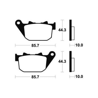 Plaquettes de frein Tecnium MR308 métal fritté