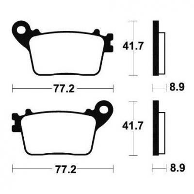 Plaquettes de frein Tecnium MR334 métal fritté
