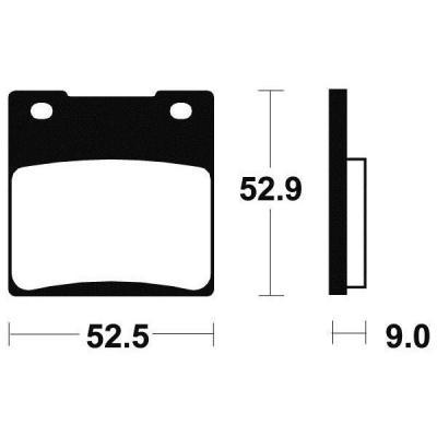 Plaquettes de frein Tecnium MR56 métal fritté
