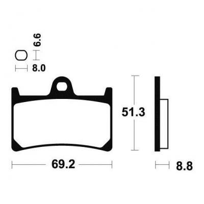 Plaquettes de frein Tecnium MSS134 métal fritté