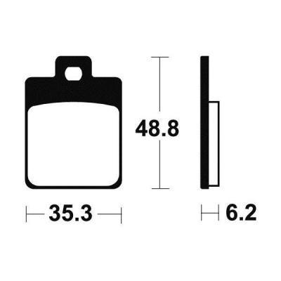 Plaquettes de frein Tecnium MSS368 métal fritté