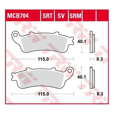 Plaquettes de frein TRW métal fritté MCB704SRT