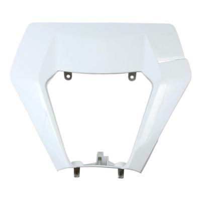 Plastique plaque phare UFO KTM 250 EXC-F 17-19 blanc (blanc KTM)