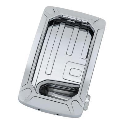 Platine de plaque immatriculation LED verticale compatible pince de montage Kuryakyn chrome