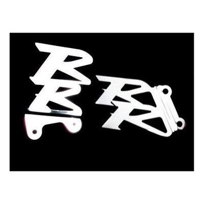 Platines de repose pieds Brazoline logo RR pour Honda cbr 1000 rr 04-07