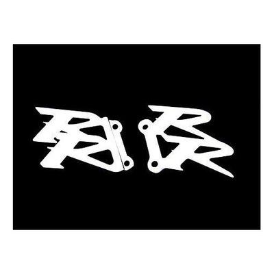 Platines de repose pieds Brazoline logo RR pour Honda cbr 600 rr 04-08