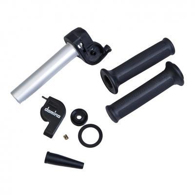Poignée de gaz Domino aluminium avec revêtements