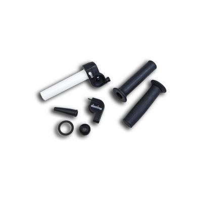 Poignée de gaz Domino rapido 28 mm 96° avec revêtement