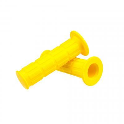 Poignées Domino type MBK 51 Magnum jaune