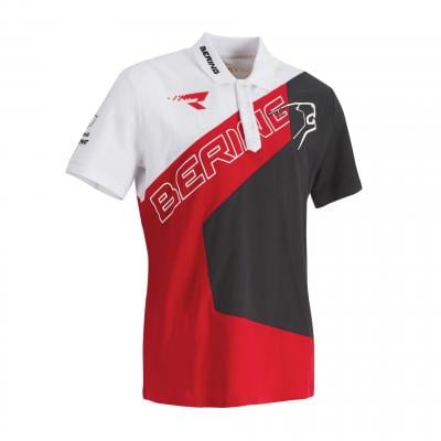 Polo Bering Racing gris/rouge/blanc