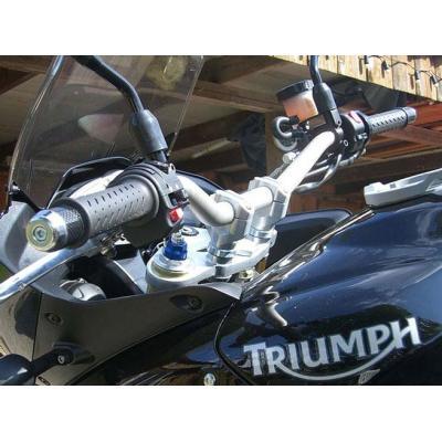 Pontets de guidon LSL rehausse +11 mm Ø28 Triumph Speed Triple 1050 11-15