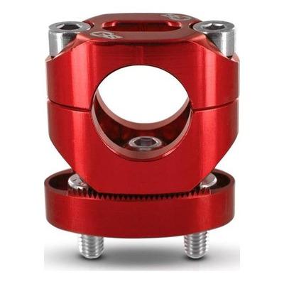 Pontets de guidon rouge Ø 28.6 racing S3 réglable +13mm