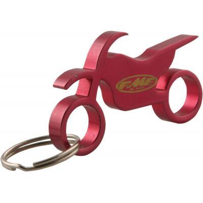 Porte-clé décapsuleur en métal FMF rouge