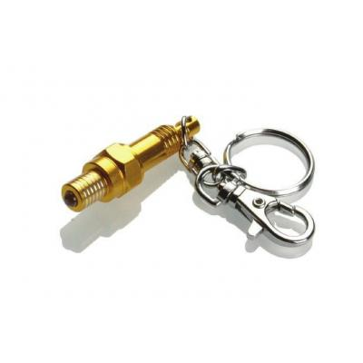 Porte-clé LED Booster Bougie or