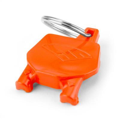 Porte-clé plaque numéro Cycra orange