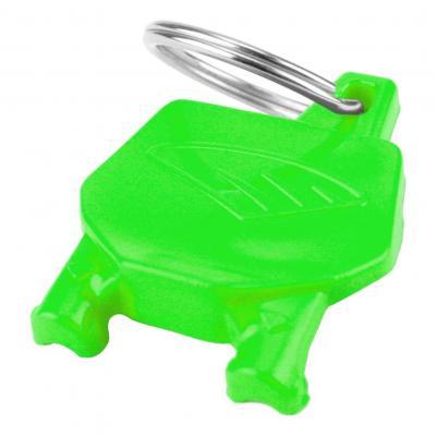 Porte-clé plaque numéro Cycra vert fluo