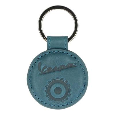 Porte clé Vespa rond bleu