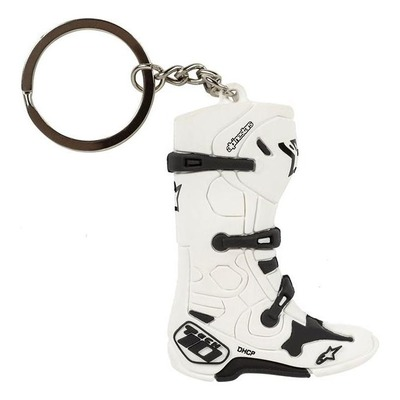 Porte clés Alpinestars New Tech 10 Boot Keyfob bottes blanc