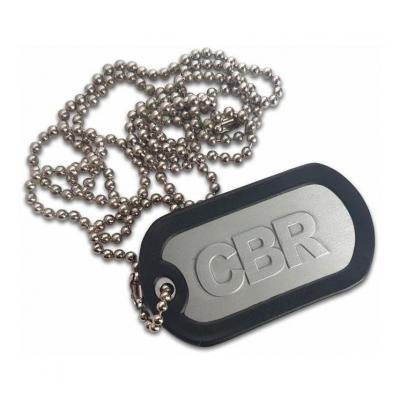Porte clés plaque type armée US CBR