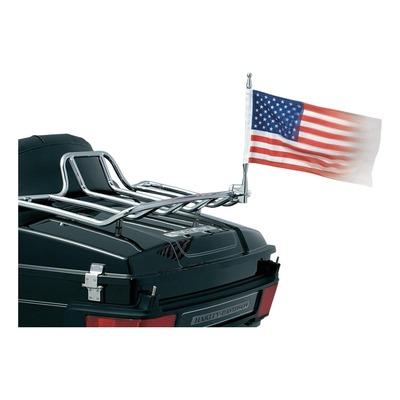 Porte drapeau Kuryakyn chrome + drapeau américain