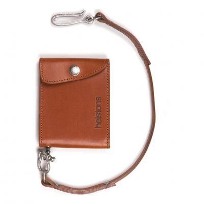 Portefeuille cuir Helstons Mini Wallet cuir naturel (Petit modèle)