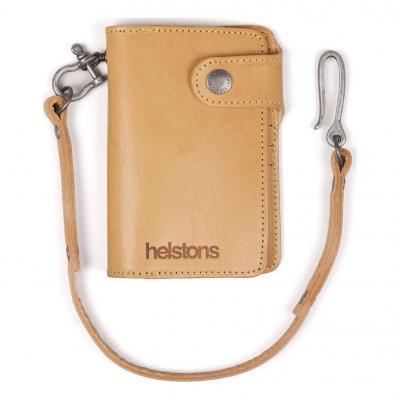 Portefeuille cuir Helstons Moon Wallet cuir naturel