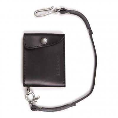 Portefeuille cuir Helstons noir (Petit modèle)