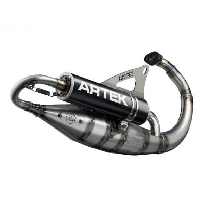 Pot Artek K2 Evo silencieux noir pour MBK Booster/Stunt/Yamaha BW's/Slider