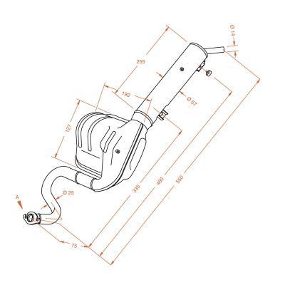 Pot d'échappement Sitoplus pour Honda PK 50 Wallardo flange
