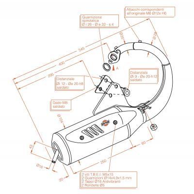Pot d'échappement Sitoplus pour Honda SJ 50 Bali