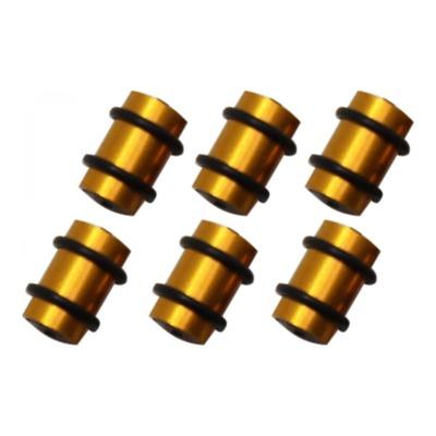 Protection de câbles de dérailleur O Rings en alu doré (6 pièces)