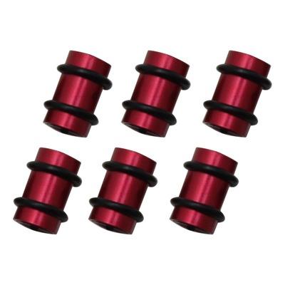 Protection de câbles de dérailleur O Rings en alu rouge (6 pièces)