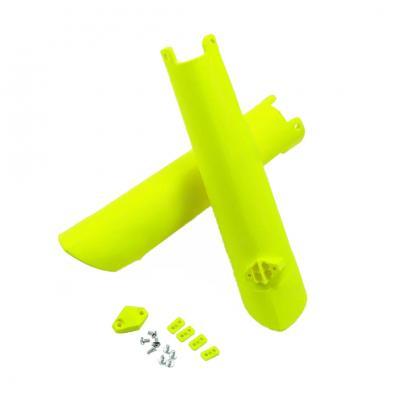 Protection de fourche UFO Husqvarna 250 TC 15-17 jaune fluo