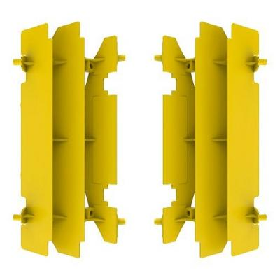 Protection de radiateur Polisport Suzuki 125 RM 01-08 jaune