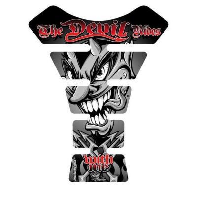 Protection de réservoir Motografix Devil noir/rouge 1 pièce