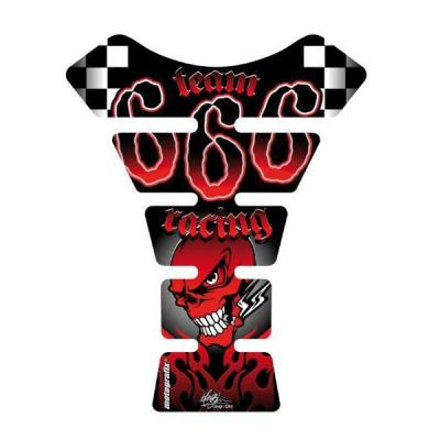 Protection de réservoir Motografix Street Style 666 rouge 1 pièce