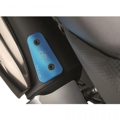 Protection de talon Lightech aluminium anodisé bleu pour Yamaha T-Max 530 12-16